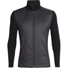 Icebreaker Lumista Hybrid Sweater Jacket Men black